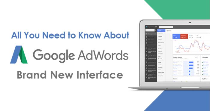 google adwords' new interface