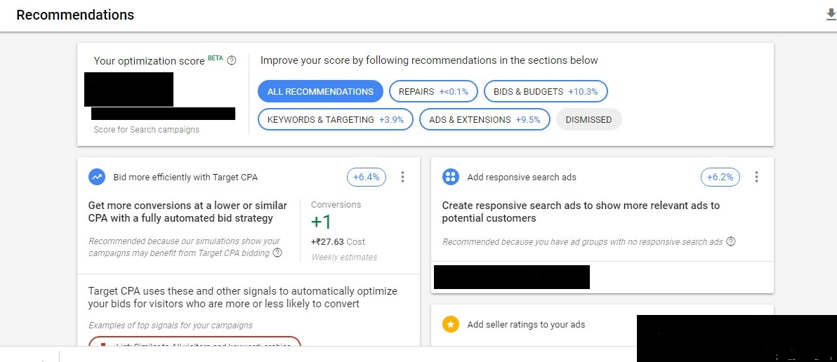adwords-recommendations